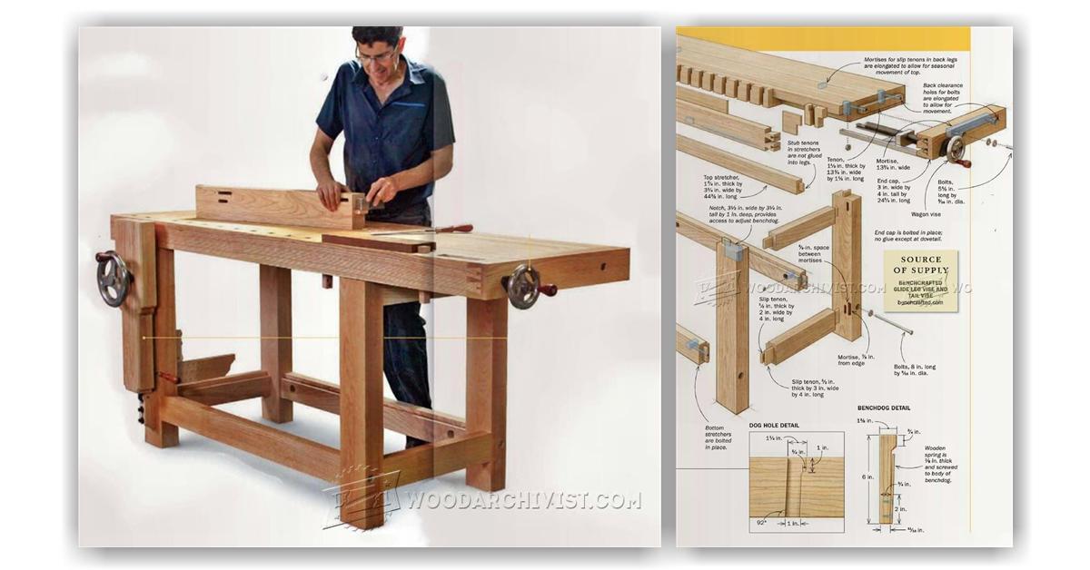 Ultimate Workbench Plans Woodarchivist