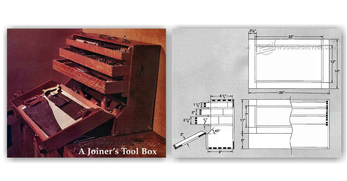 Joiners Tool Box Plans Woodarchivist