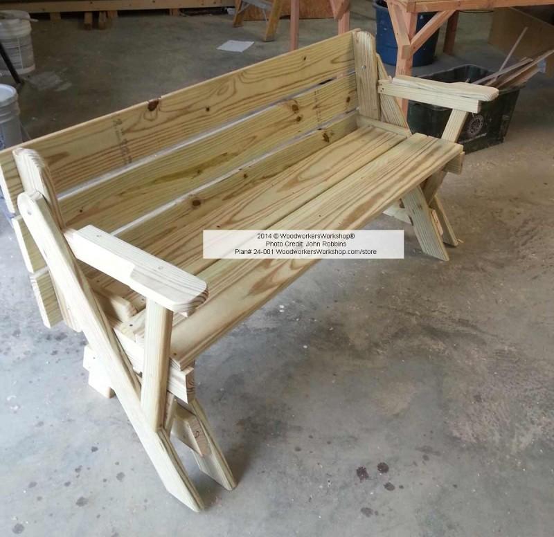 Convertible Folding Picnic Bench Table Woodchuckcanuck Com