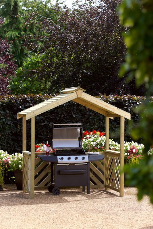 Woodshaw Hampton Bbq Wooden Shelter Simply Wood