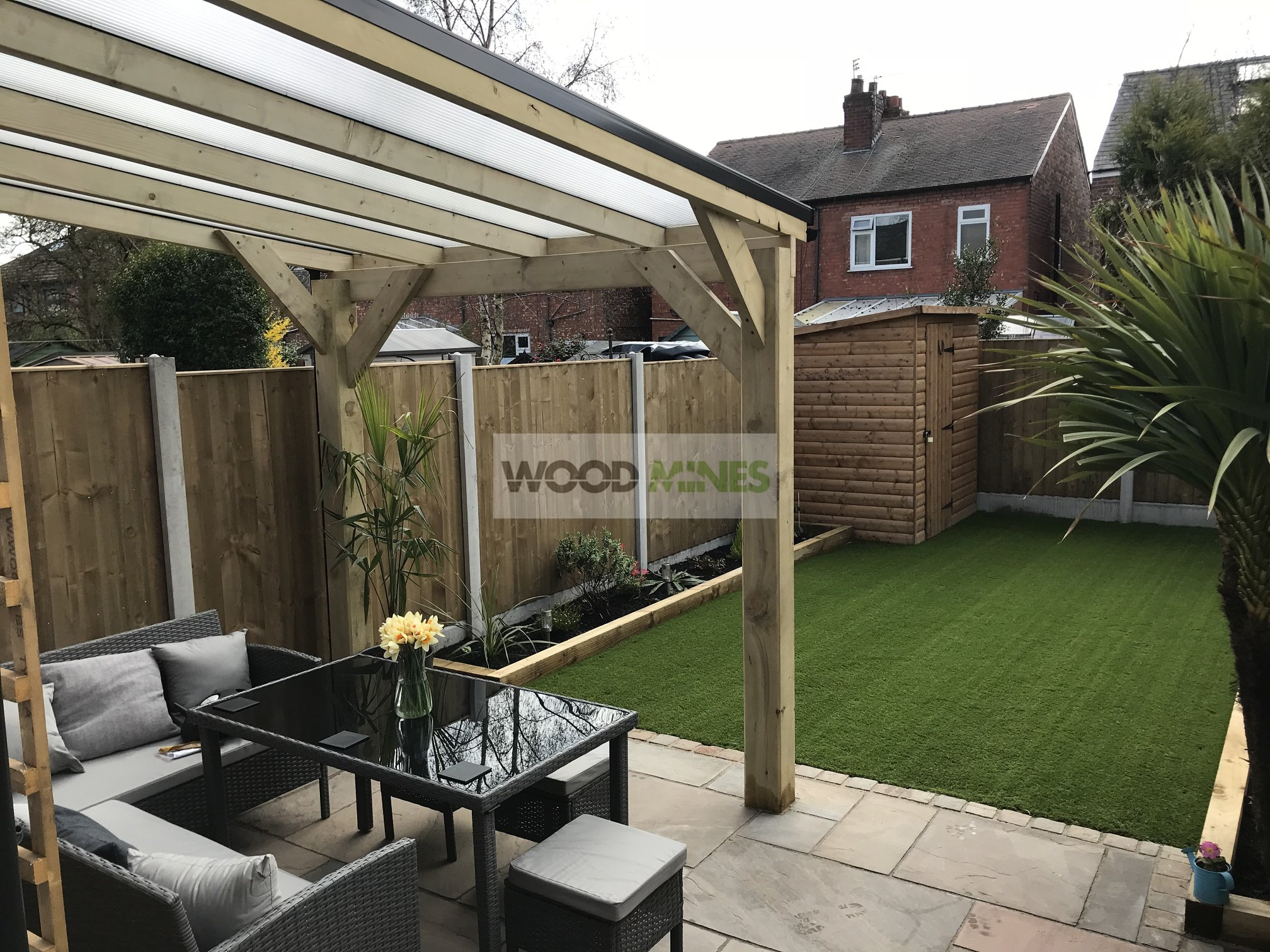 Wooden Lean To Pergola Woodmines Info