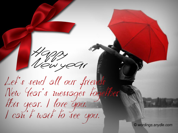 Romantic New Year Messages   Wordings and Messages Romantic New Year Messages