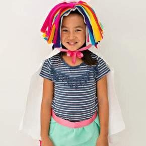 Kostum untuk gadis tahun baru dengan tangannya foto 36
