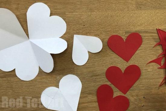 как сделать объемное сердце из бумаги фото 026