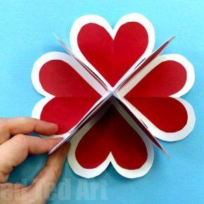 как сделать объемное сердце из бумаги фото 030