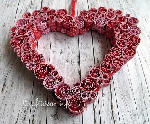 сердце из бумаги своими руками фото 049