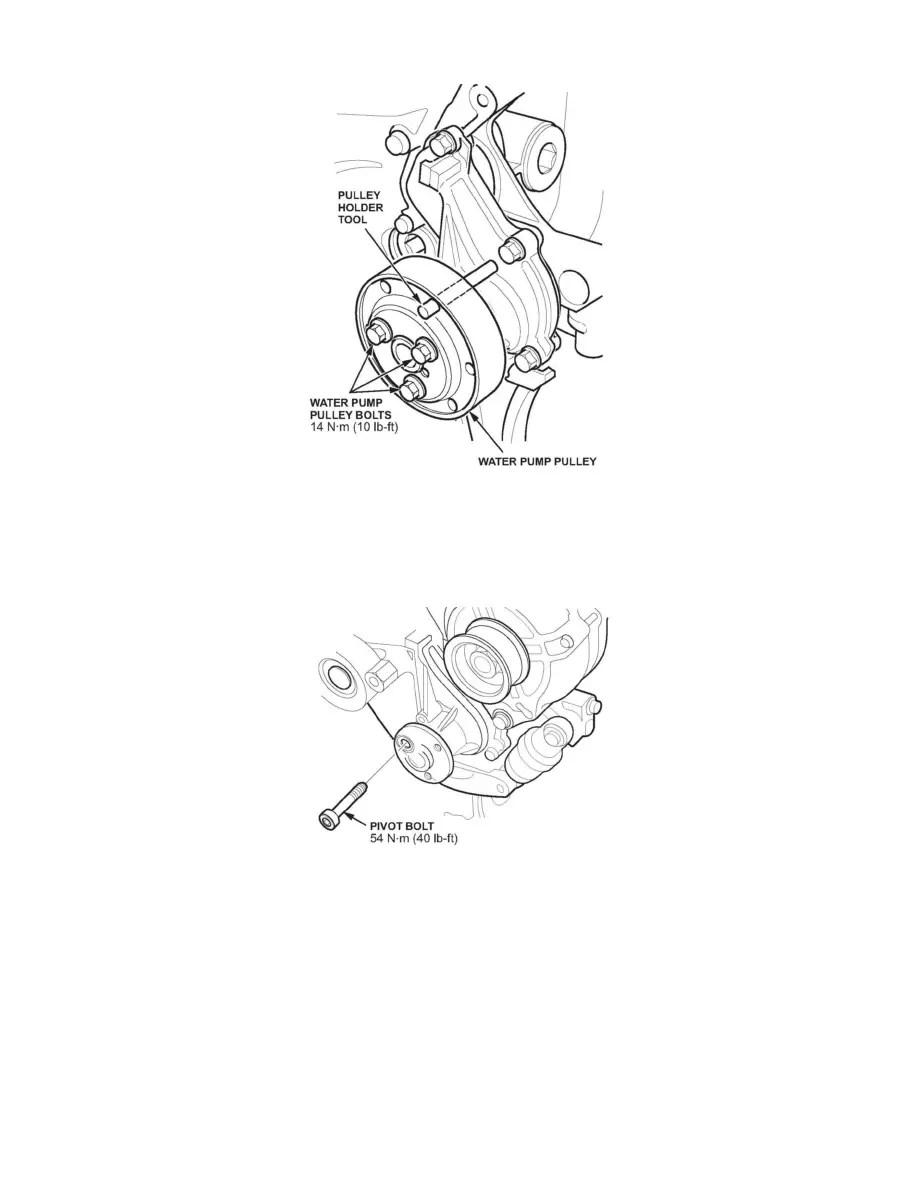 V belt drive pulley array honda workshop manuals u003e civic l4 1 8l 2006 u003e engine cooling and rh