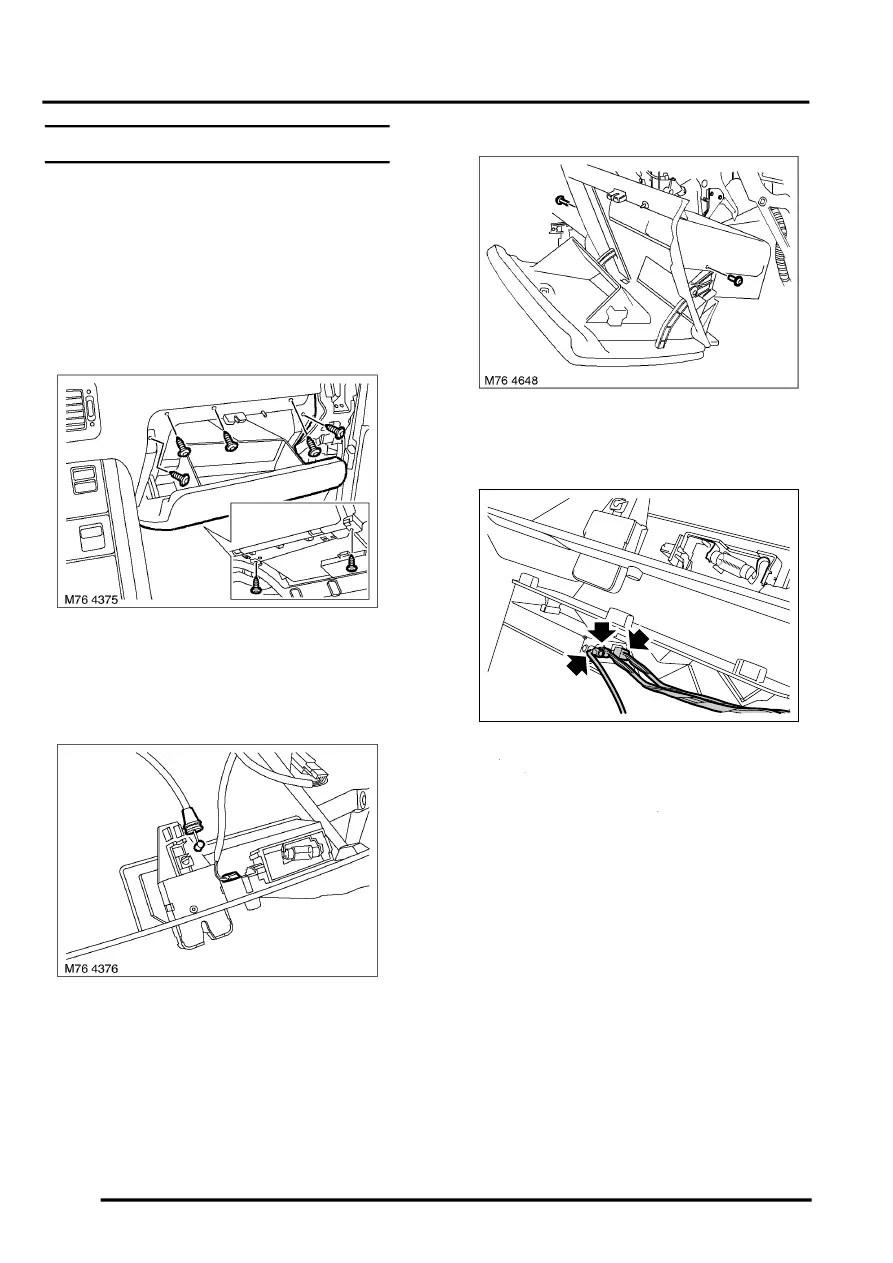 Interior fittings > repairs > glove box