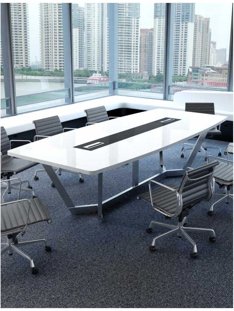 Diamond Steel Frame Modern Meeting Table Workspace