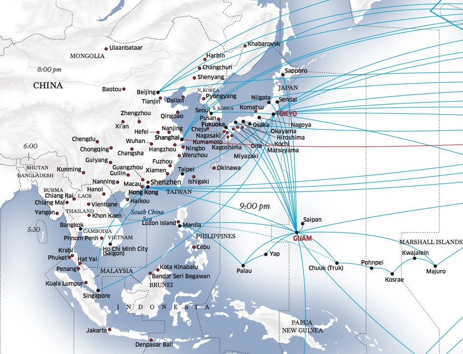 United Airlines Destinations Map^@#