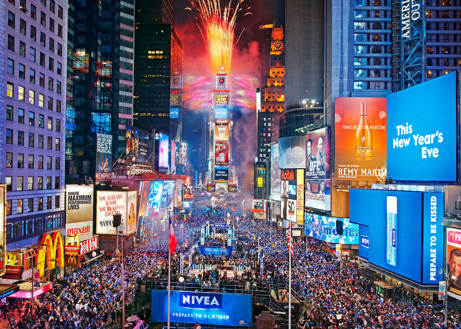 New Year Destinations  New York  USA  Time Square at New Year Countdown New Year Destinations  New York  USA  Time Square at New Year Countdown