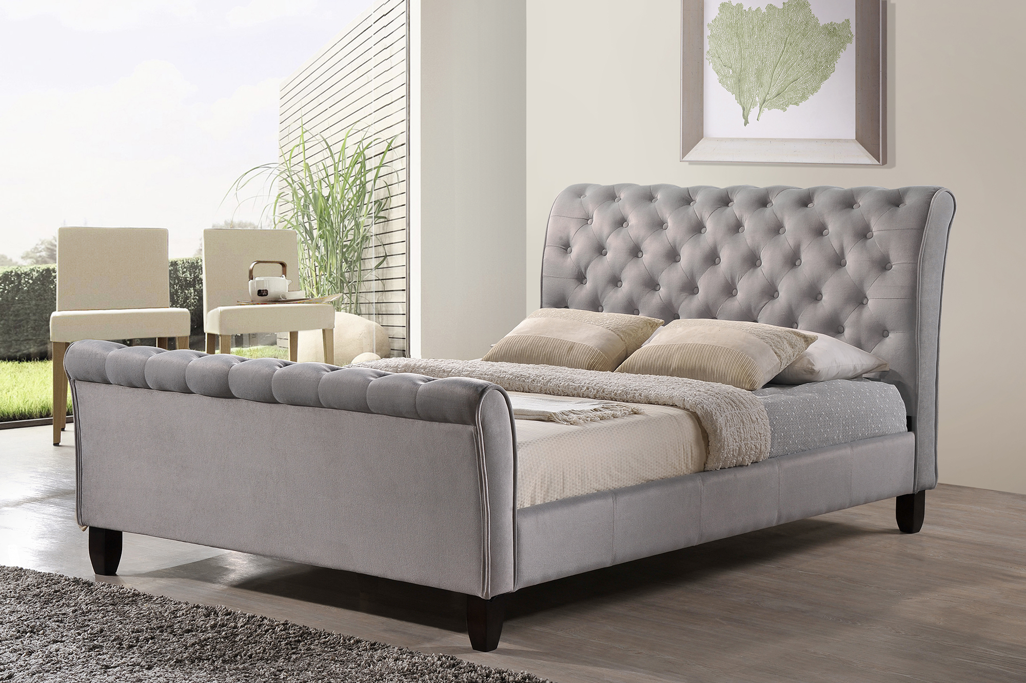 Your Guide to Buying the Perfect Bed   Worldwide Homefurnishings Inc  Grey Sleigh Bed By Inspire