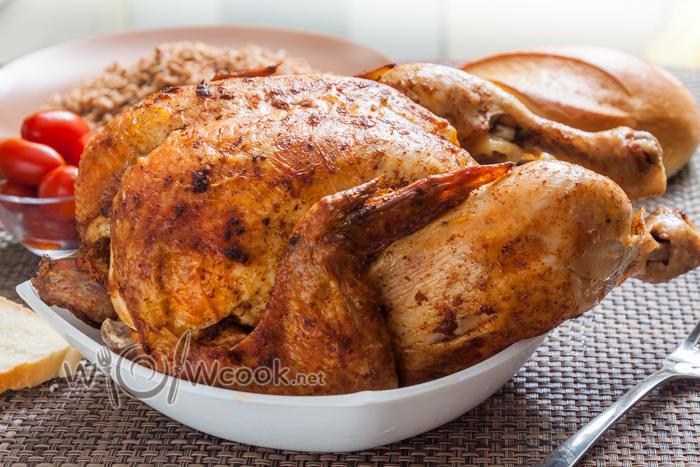 Pollo con mandarini nella ricetta del forno