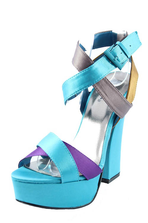 Color Heel Wedge Size 5 Sandals Clear High