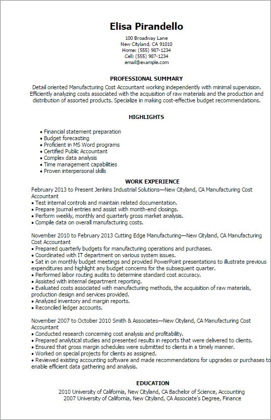 Marketing Program Manager Resume