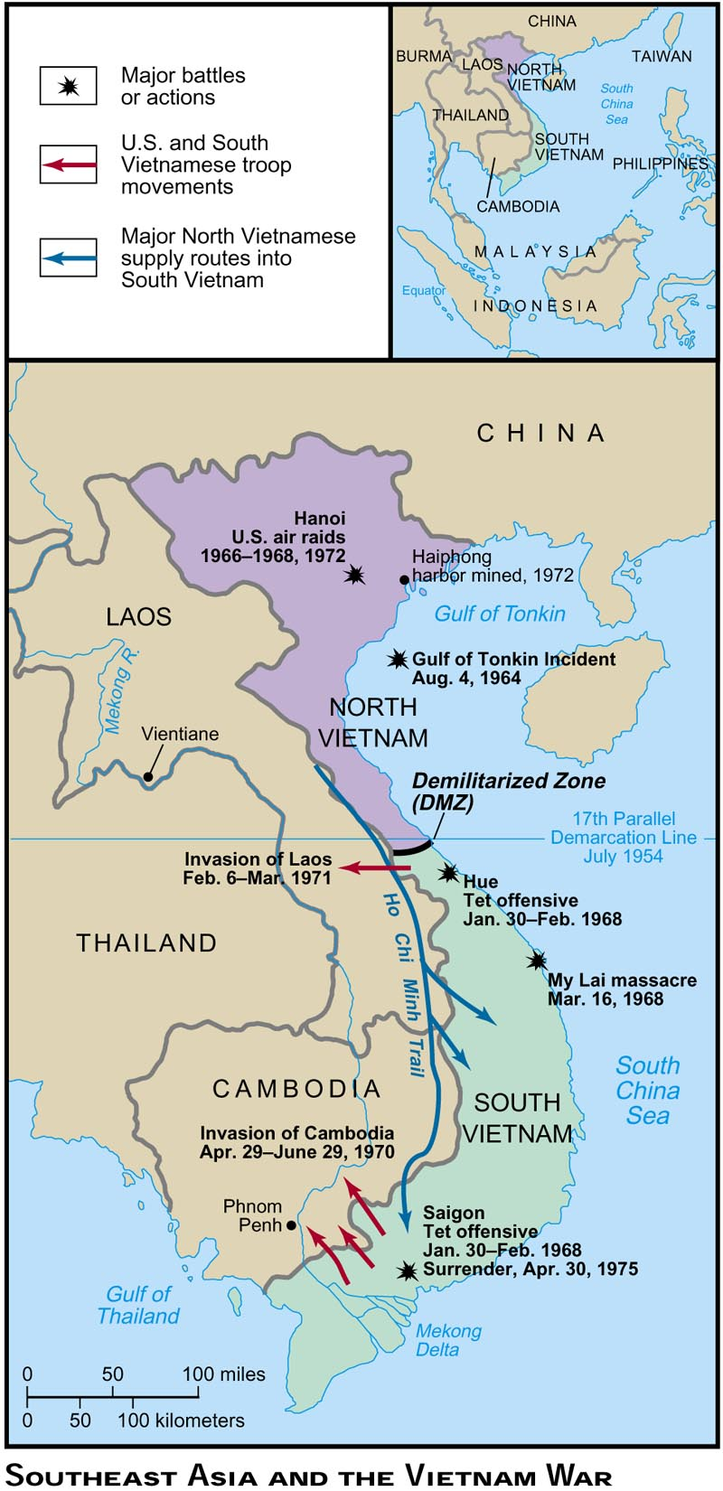 Map Of Asia During Vietnam War.Map Asia During Vietnam War
