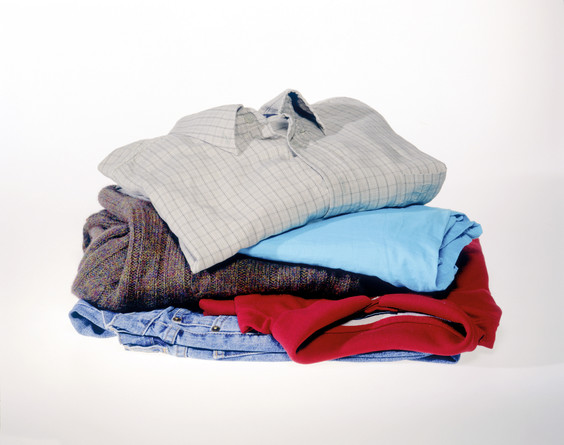 Neat pile of men's clothes - WRAP Resource Library