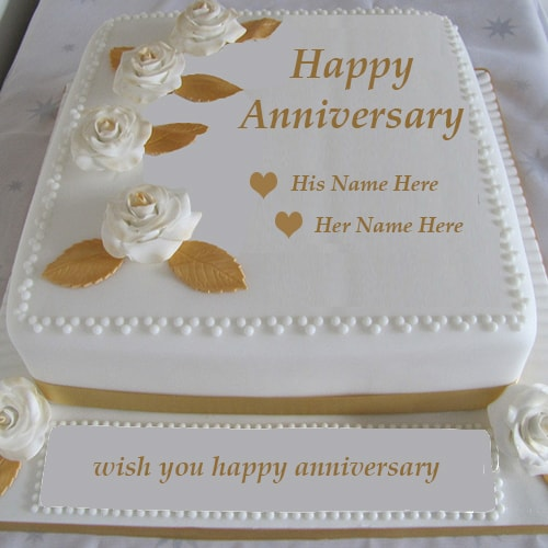 Write Name On Wedding Anniversary Cake Images