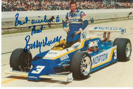 Legendary American Auto Racers BOBBY UNSER And CALE YARBOROUGH Signed Photo  And Signed Card - The Written Word Autographs