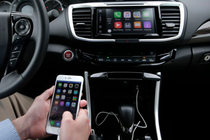Drivers urged not to connect smartphones to rental cars   WTOP In this Thursday  Aug  20  2015 photo  Chris Martin from Honda North  America demonstrates Apple CarPlay in Torrance  California   AP Photo Jae  C  Hong