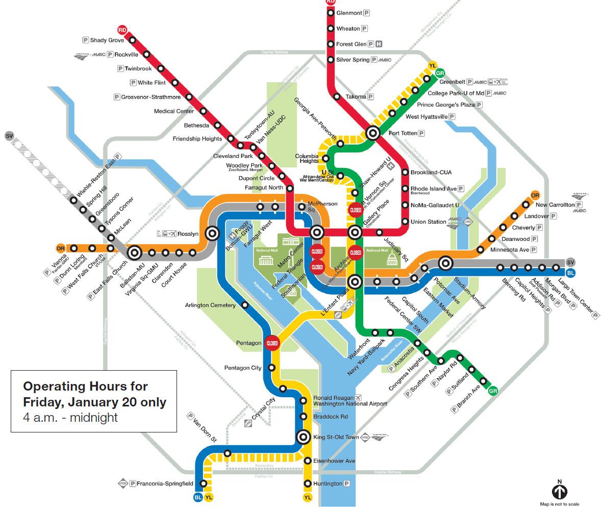 Road Map Dc Metro Stop