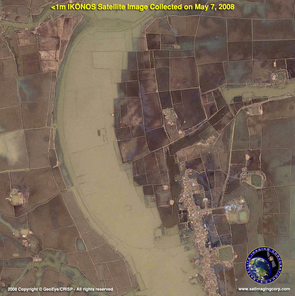 Cyclone Nargis Images High Resolution Ikonos Satellite