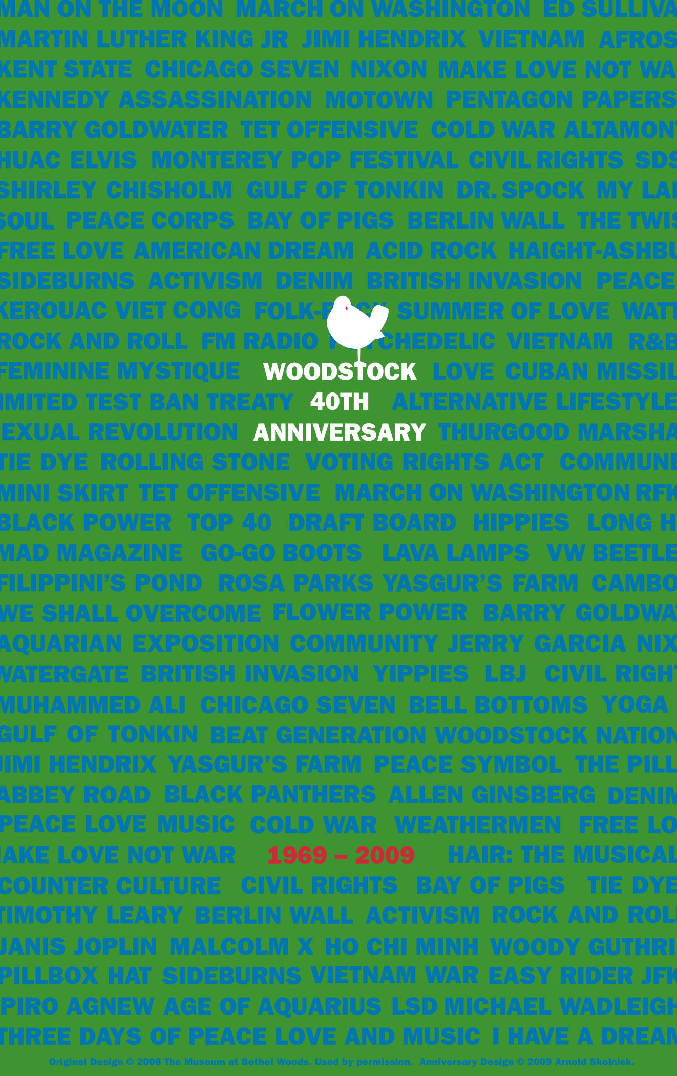 40th Anniversary Woodstock Poster Unveiled In Boston