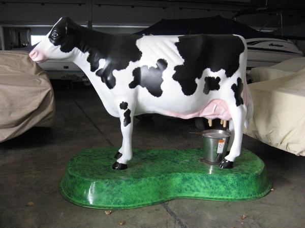Fake 300lb Milkable Cow Grazes Through Downtown Brooklyn