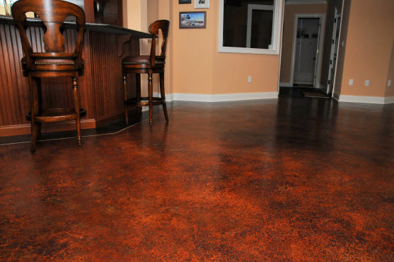 Acid Stained Concrete Floor Colors