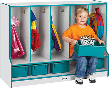 A Plus Warehouse Announces Wood Toddler Locker with Seat ...