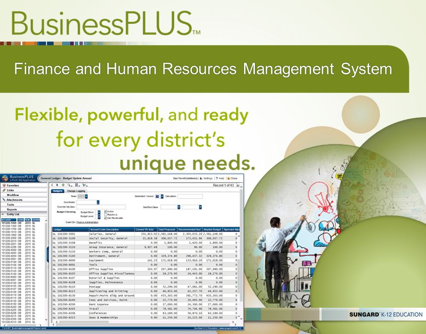 Sungard K 12 Education S Businessplus Finance And Human