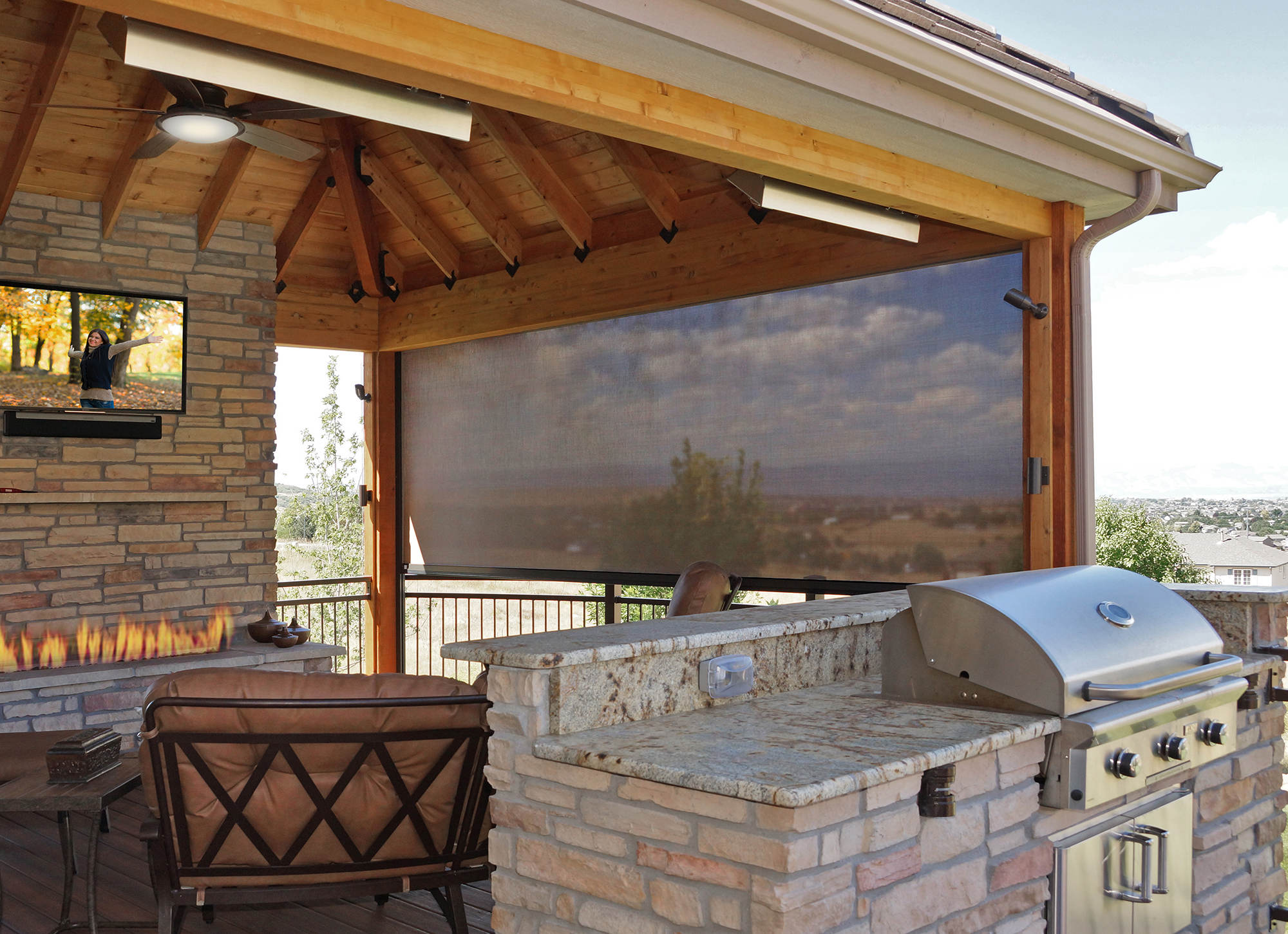 New Oasis 174 Retractable Insect Screens Driven By Lutron
