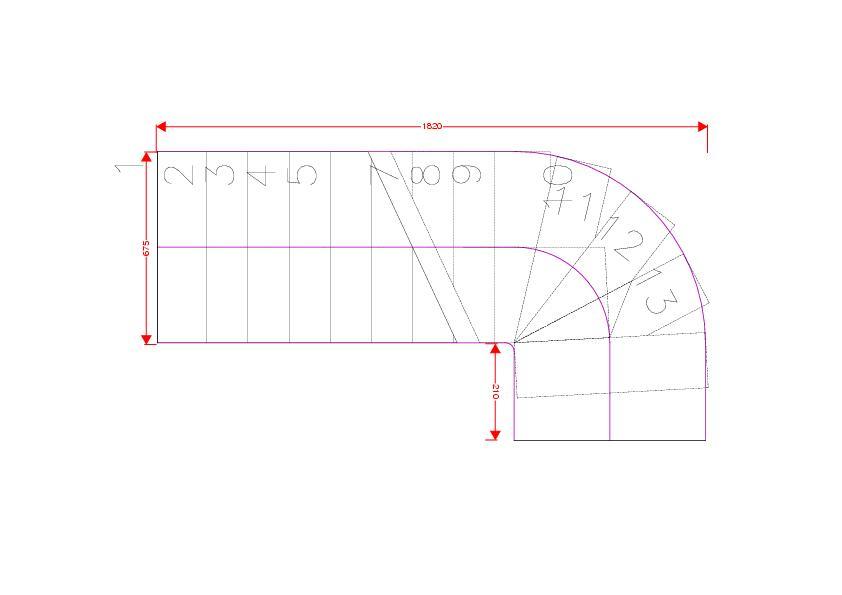 Treppe erstellen nur am Pfad mit 1/4 Windung (Autodesk/AutoCAD