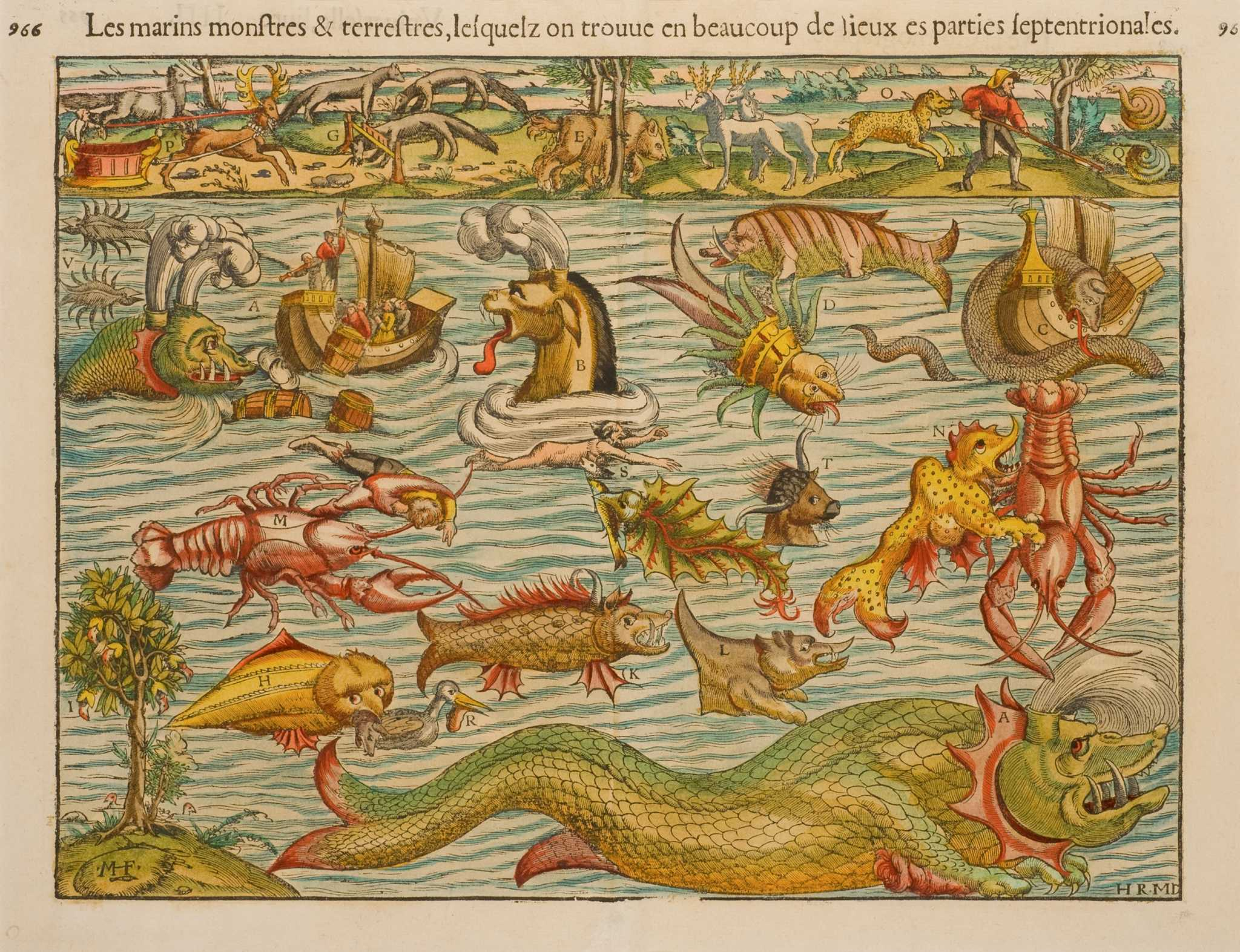 Maps Sea World Monsters 1500s