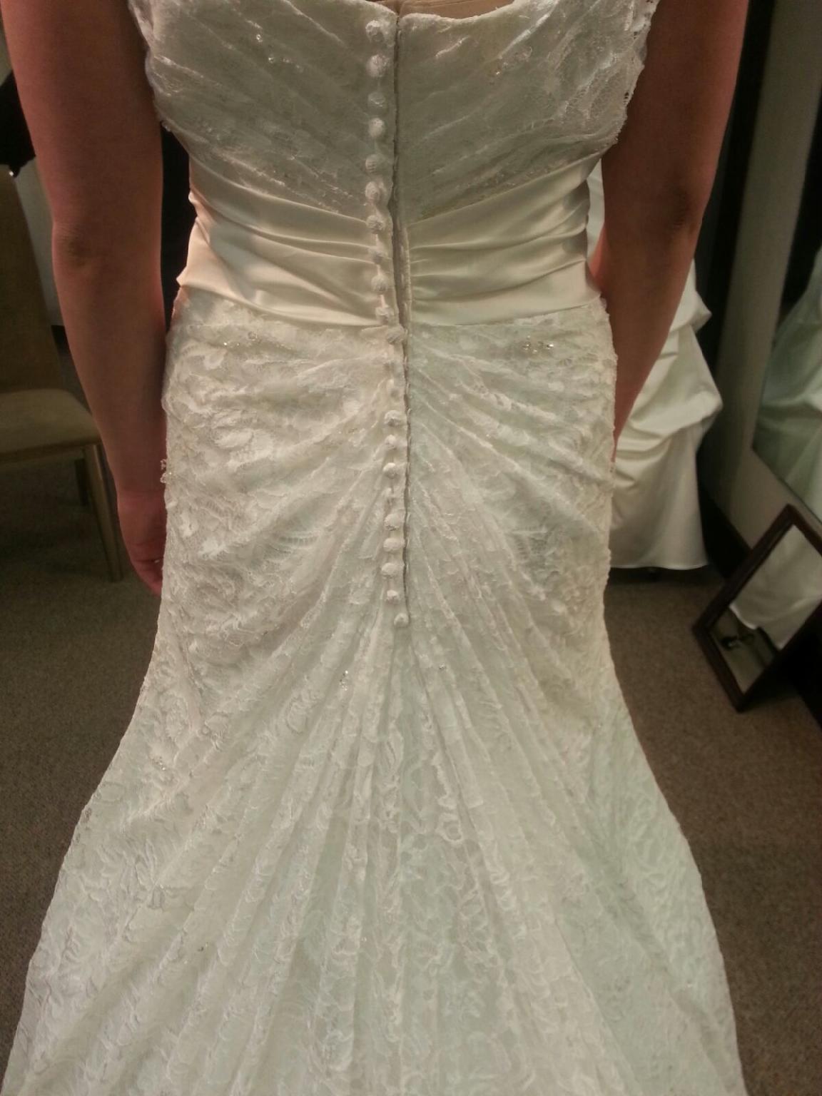 Austrian Bustle Wedding Gown