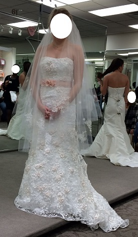 Calling all dresses  Why d you choose yours      of dresses either felt too bridal or not bridal enough  this one felt  perfect  So I think this might be my dress  It s from DB  Oleg Cassini   CWG464