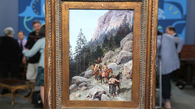 1892 H F Farny Watercolor Amp Gouache Painting Antiques