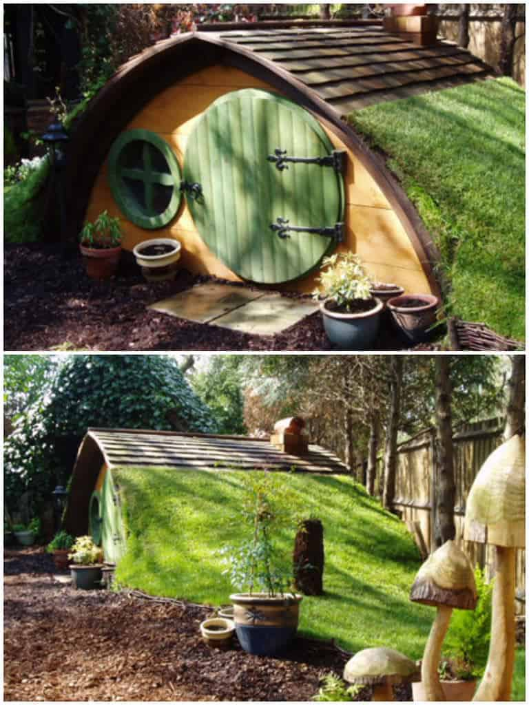 Cute Hobbit House Kit In Garden 1001 Gardens