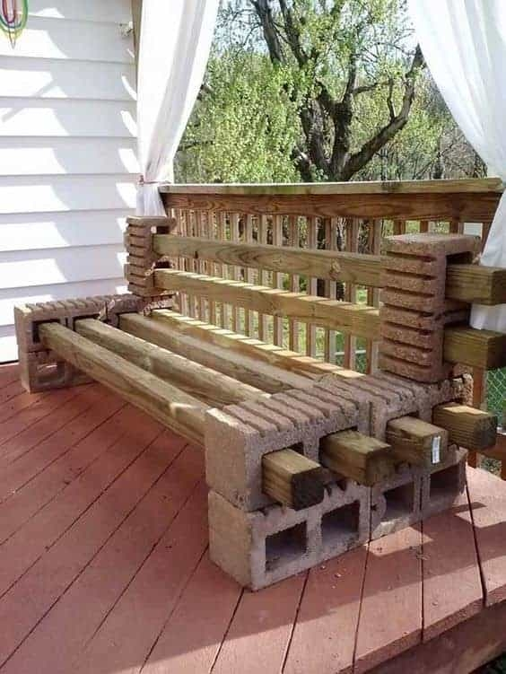 How To Make A Cinder Block Bench | Patio With Steps To Garden | Sl*P* | Pinterest | Lighting | Balustrade | Contemporary