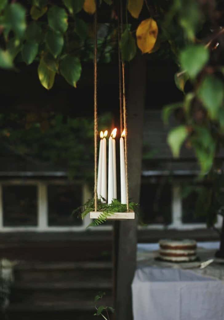 Diy Outdoor Candle Chandelier Tutorial 1001 Gardens