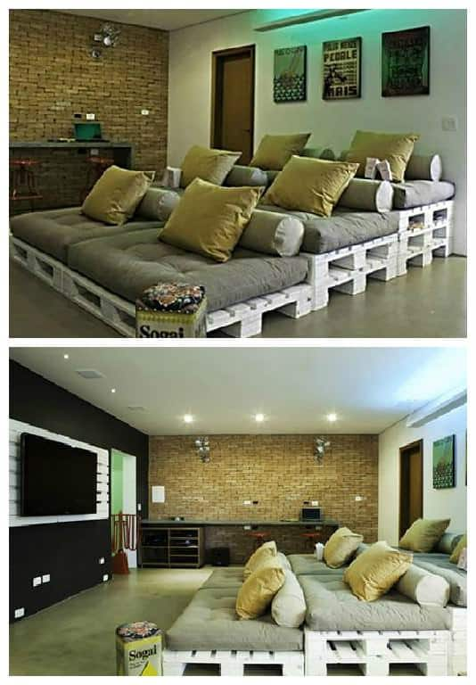 Pallets Home Theater Seating 1001 Pallets