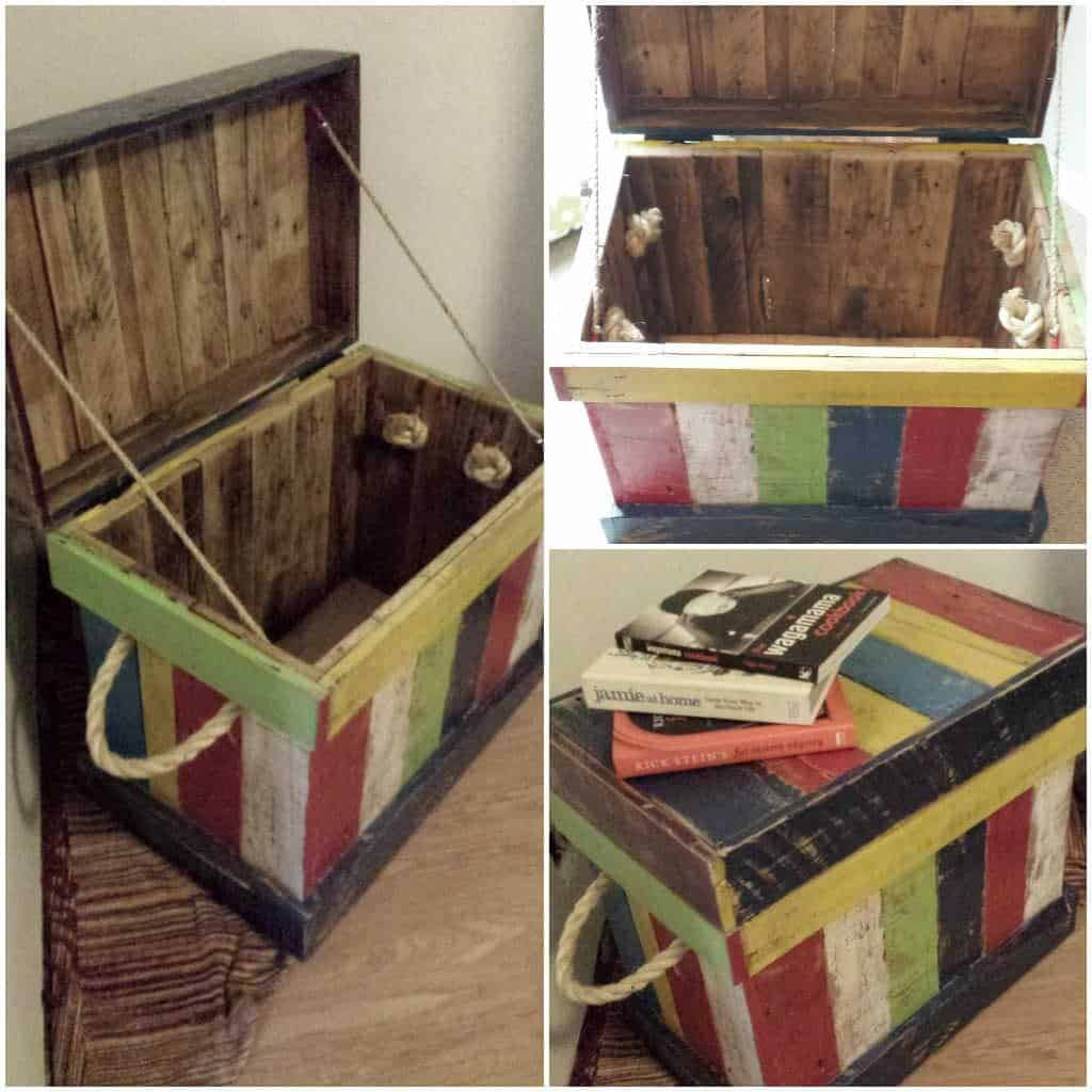 Reclaimed Pallet Into Kids Toy Box 1001 Pallets