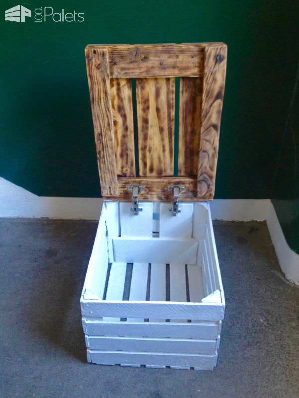 Storage Table Made From A Veg Crate Amp One Pallet 1001