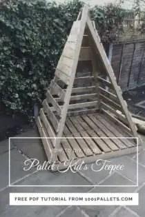 Easy Pallet Kid S Teepee Free Pallet Tutorials 1001