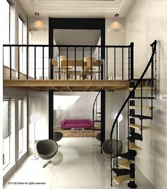 L00L Stairs Space Saver Spiral Staircase Type Trio 180°   Space Saving Spiral Staircase   Child Friendly   Do It Yourself Diy   Metal   Duplex House   Loft