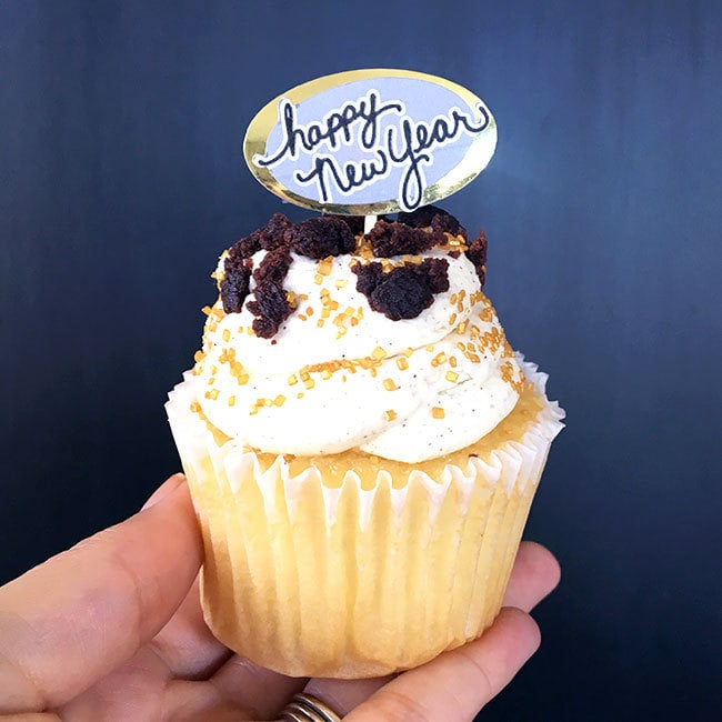 Happy New Year Cupcake Topper   100 Directions Happy New Year cupcake topper made with Cricut designed Jen Goode