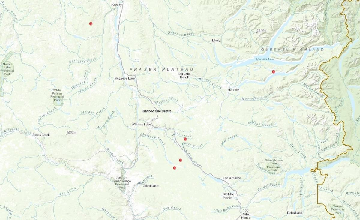 UPDATE  Crews attending to five new fires in the Cariboo Fire Centre     UPDATE  Crews attending to five new fires in the Cariboo Fire Centre   100  Mile House Free Press