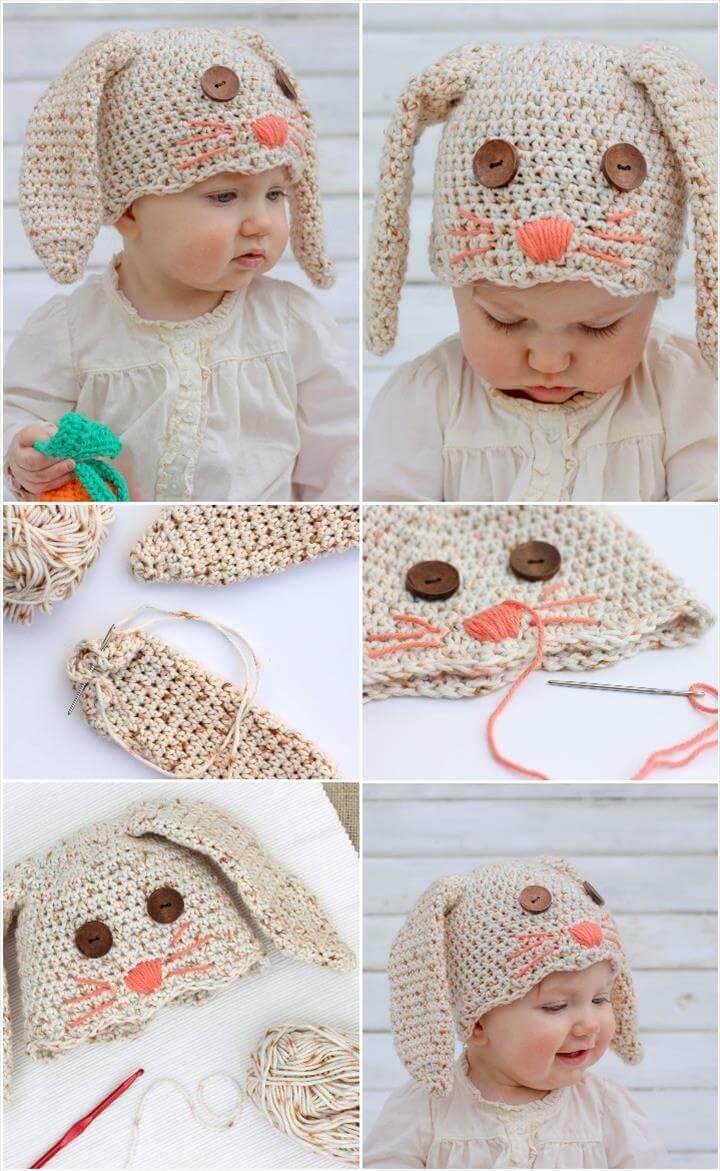 Baby Bunny Hat Crochet Pattern