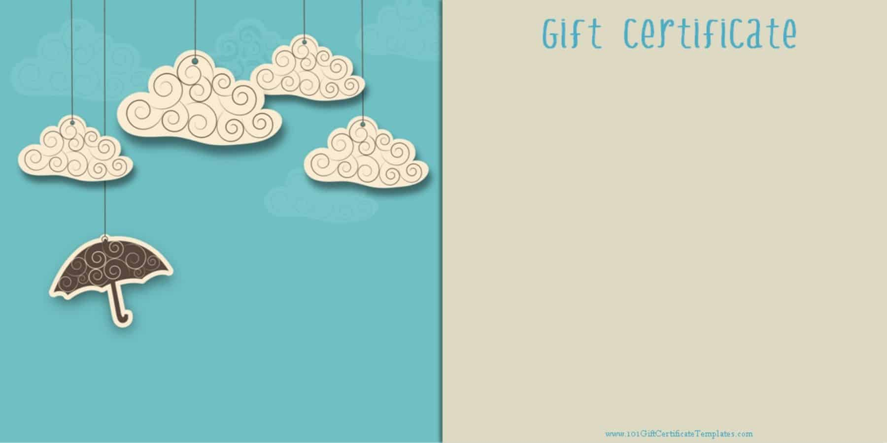 Printable Gift Certificate Templates free printable gift card which you can customize before you print