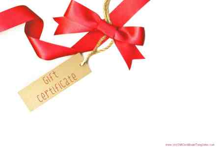 Printable Gift Certificate Templates gift card which can be customized in any way with our gift card maker